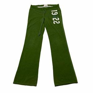 Hollister Green sweatpants Large